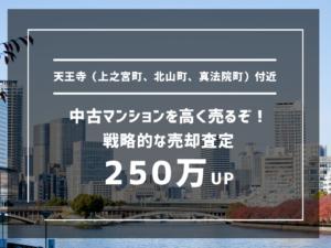 天王寺(上之宮町、北山町、真法院町)付近の中古マンションを高く売るぞ!戦略的な売却査定で150万UP
